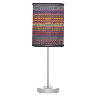 Vintage tribal aztec pattern table lamp