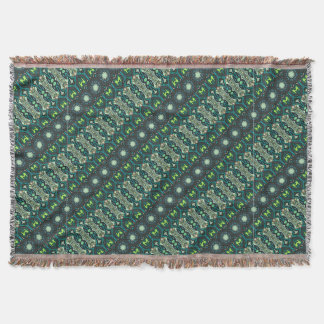 Vintage tribal aztec pattern throw blanket