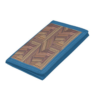 Vintage tribal aztec pattern trifold wallet