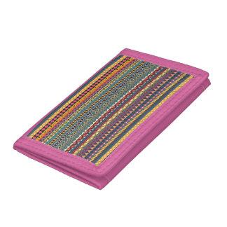 Vintage tribal aztec pattern trifold wallet