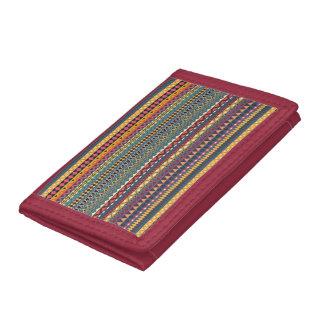 Vintage tribal aztec pattern trifold wallets