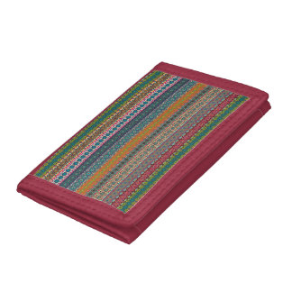 Vintage tribal aztec pattern trifold wallets