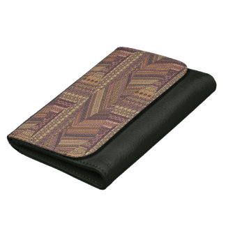 Vintage tribal aztec pattern wallets for women