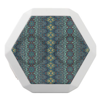 Vintage tribal aztec pattern white bluetooth speaker