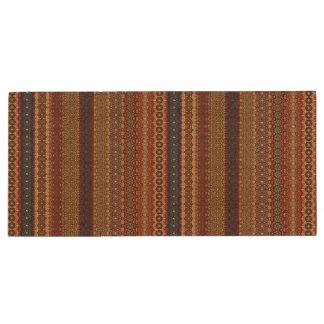 Vintage tribal aztec pattern wood USB 2.0 flash drive