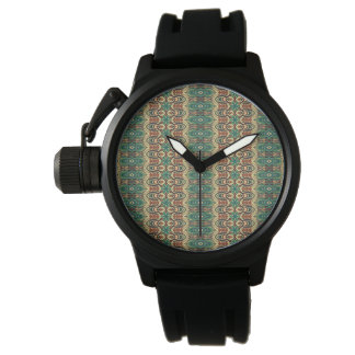 Vintage tribal aztec pattern wrist watch