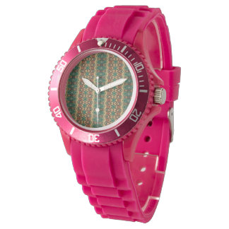 Vintage tribal aztec pattern wristwatch