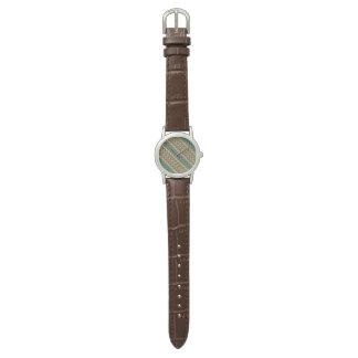 Vintage tribal aztec pattern wristwatches