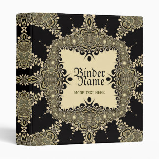Vintage Tribal Tattoo Decorative Gold Black Binder