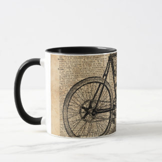 Vintage Tricycle Dictionary Art Bicycle Quote Mug