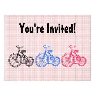 Vintage Tricycles Personalized Invitation