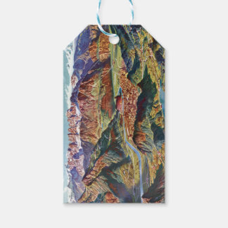 Vintage Trient and the Brenta Dolomites Italy Map Gift Tags