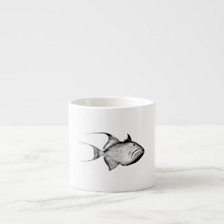 Vintage Trigger Fish Antique Hawaiian Print Espresso Cup
