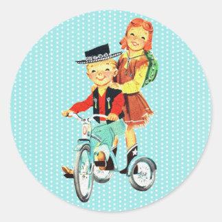 Vintage Trike Round Sticker