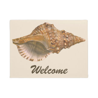 Vintage Triton Seashell Shell, Marine Ocean Animal Doormat