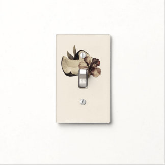 Vintage Tropical Coconut & Hibiscus Chic Retro Light Switch Cover