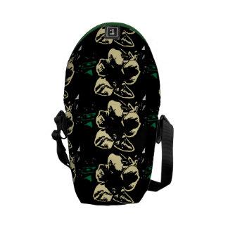 Vintage Tropical floral black cream pattern Commuter Bag