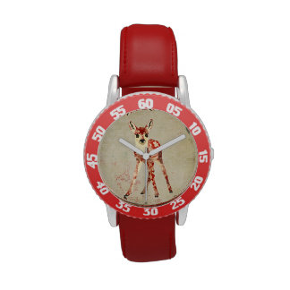 Vintage Tropical Floral Fawn Watch