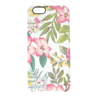 Vintage Tropical Floral iphone6 Clear Case