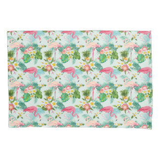 Vintage Tropical Flowers And Birds Pillowcase