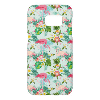 Vintage Tropical Flowers And Birds Samsung Galaxy S7 Case