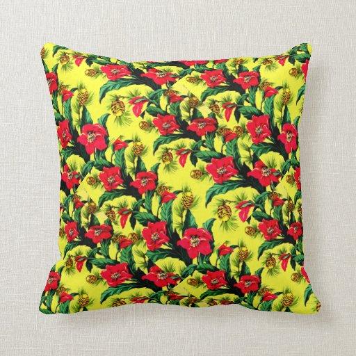 Vintage Tropical Flowers Florida Hawaii Decor Pillows