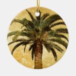 Vintage Tropical Palm Tree Christmas Tree Ornament