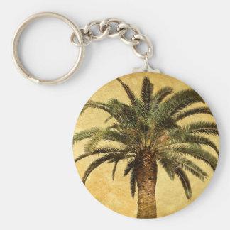 Vintage Tropical Palm Tree Key Chains