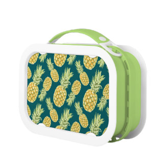Vintage Tropical Pineapple Print Lunchbox