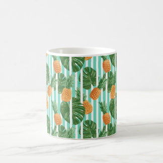 Vintage Tropical Pineapple Vector Seamless Pattern Coffee Mug
