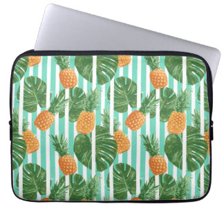 Vintage Tropical Pineapple Vector Seamless Pattern Laptop Sleeve
