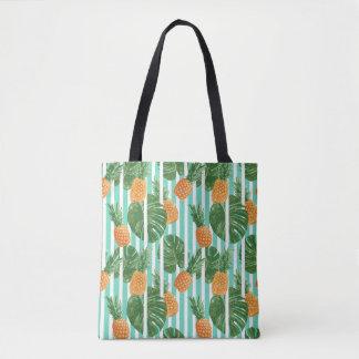 Vintage Tropical Pineapple Vector Seamless Pattern Tote Bag
