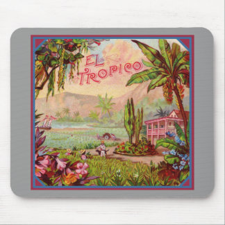 Vintage Tropical Plantation Mouse Pad
