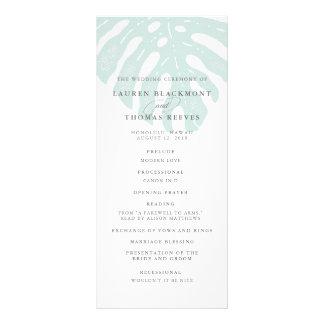 Vintage Tropics Double Sided Wedding Program Rack Cards