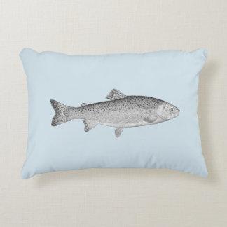 Vintage Trout Accent Pillow