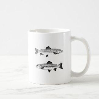 Vintage Trout Art Coffee Mug