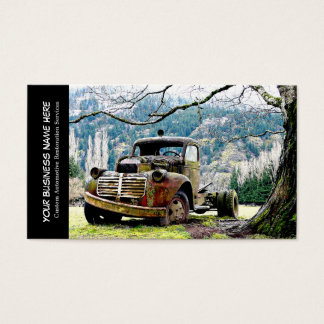 Vintage Truck Automotive Restoration Services Business Card