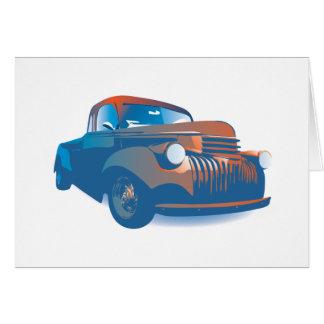 Vintage truck card