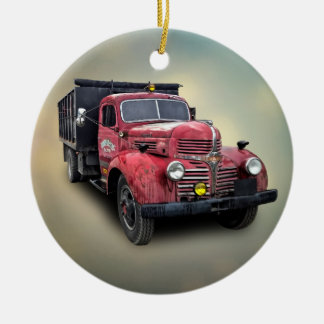 VINTAGE TRUCK CERAMIC ORNAMENT