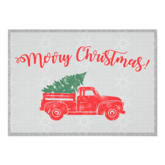 Vintage Truck Christmas Card