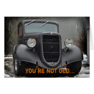 Vintage truck humorous friendship card