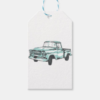 Vintage Truck Illustration Gift Tags