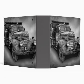 VINTAGE TRUCK IN BLACK AND WHITE BINDER