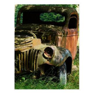 Vintage Truck Rusting Away Postcard