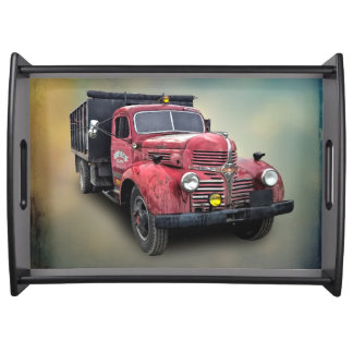 VINTAGE TRUCK SERVING TRAY