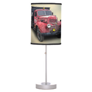 VINTAGE TRUCK TABLE LAMP