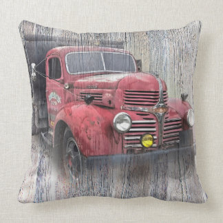 VINTAGE TRUCK THROW PILLOW