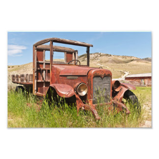 Vintage Truck with Wooden Bed - Antique Photo Print