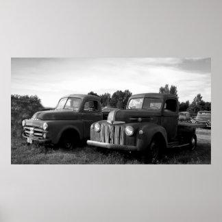 Vintage Trucks Poster