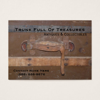 Vintage Trunk for Antiques and Collectibles Business Card